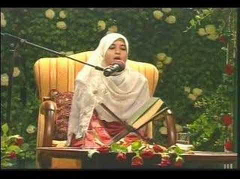 Masha'Allah recited by Somaya Abdel Aziz of Egypt.  https://www.youtube.com/watch?v=xcdrkFqKOjI&list=PL2AF8D8F5A7FC0509 Uploaded: June 12, 2007 Accessed:  July 15, 2014