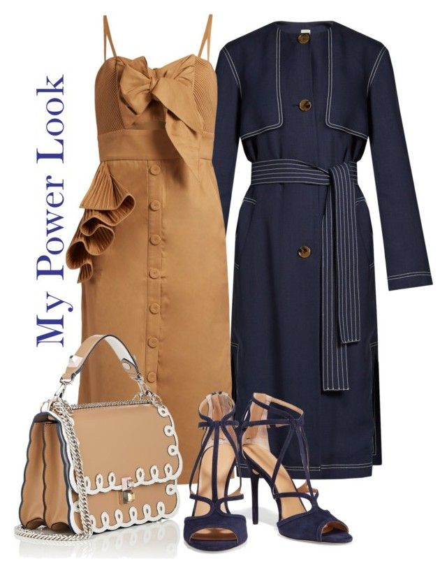 My Power Look by evachasioti on Polyvore featuring Johanna Ortiz, Khaite, Halston Heritage, Fendi, polyvorecontest and MyPowerLook