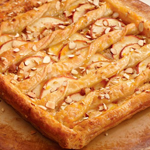 Frozen puff pastry makes this European-style, open-faced tart easy to create.