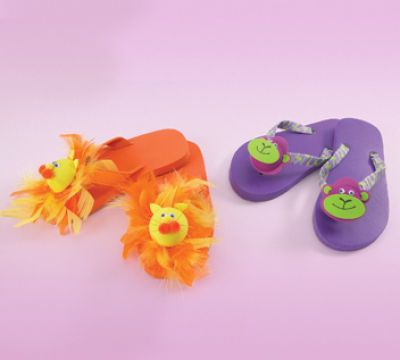 3D Puppet Flip Flops