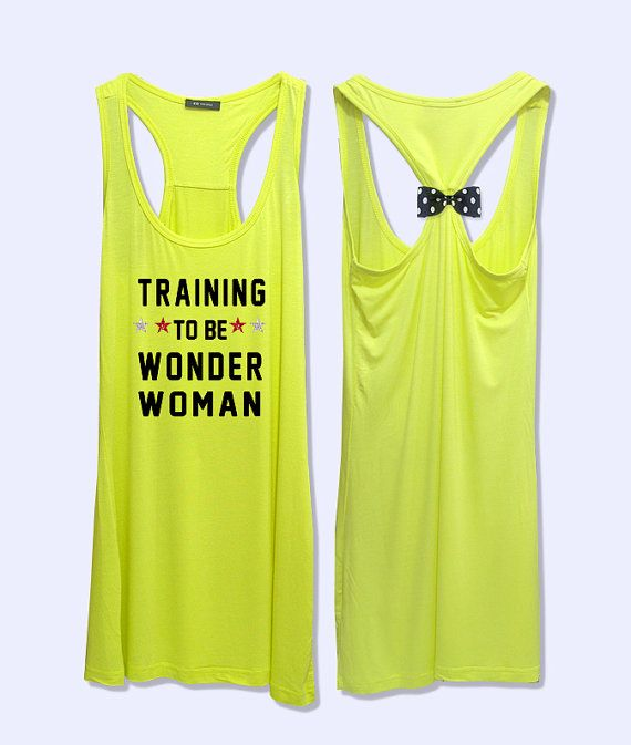 Training to be wonder woman  print  workout  fitness rcerback  tank top  PK_432 on Etsy, $24.00