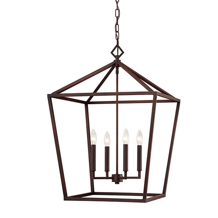 20 In X 25 Kenwood Rubbed Bronze Four Light Lantern Pendant 251 First