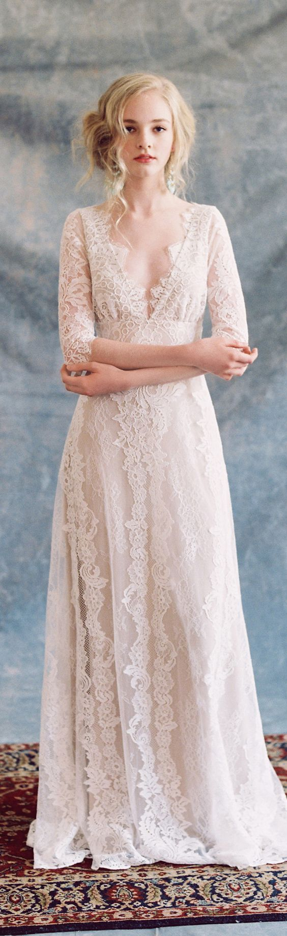Patchouli lace wedding dress Romantique by Claire Pettibone, photo: Laura Gordon http://romantique.clairepettibone.com/collections/bohemian-rhapsody/products/patchouli