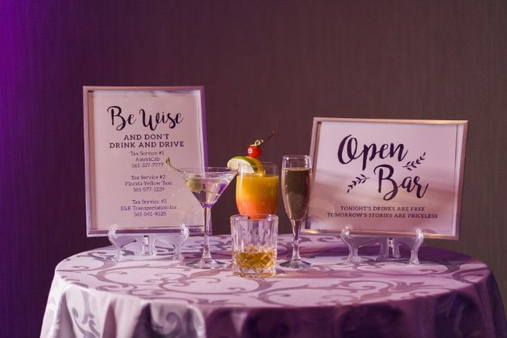 Wedding bar sign ideas (Chris Kruger Photography)