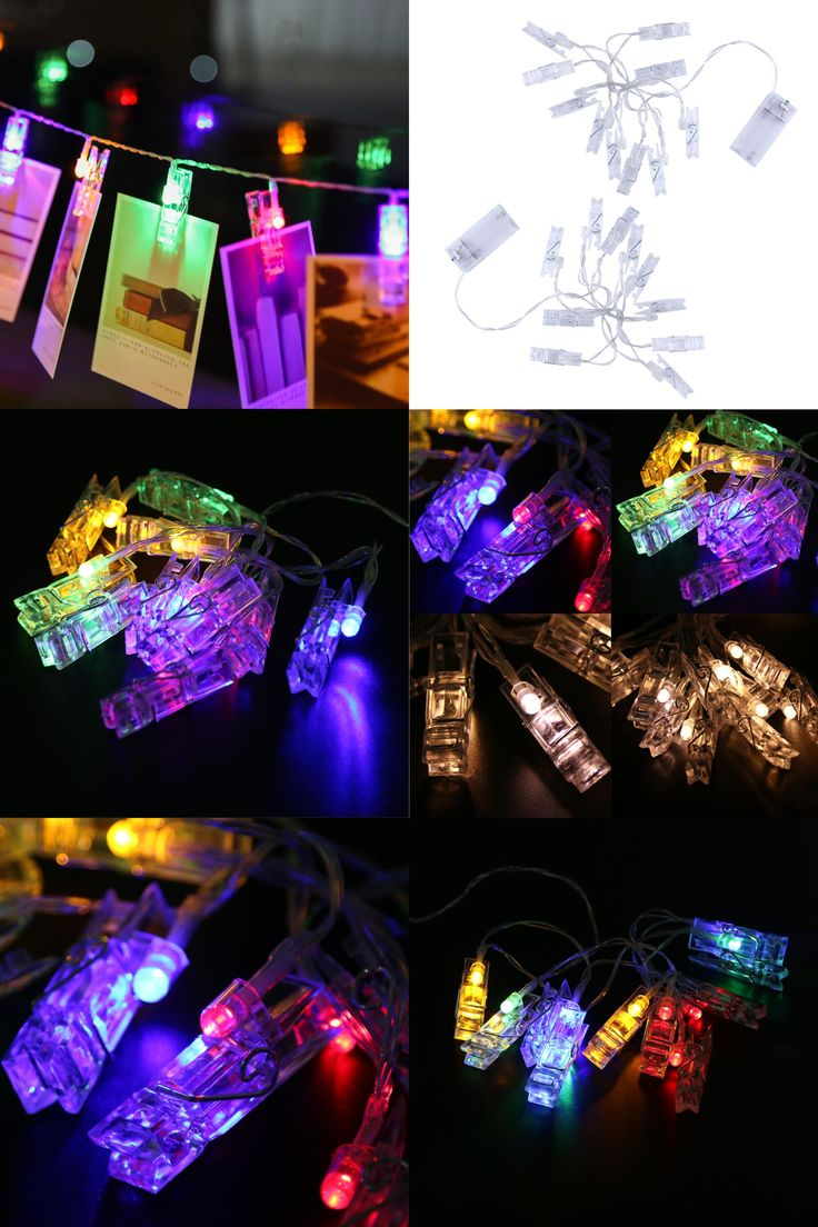 [Visit to Buy] 1.3M Mini 10 led clip string lights battery Christmas lights new year party wedding home decoration fairy lights battery #Advertisement