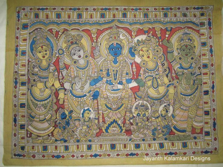 Pen Kalamkari Wall Hangings Code: JKD-WH03 Length: 47 inch Width: 36 inch