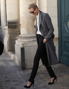 Street style chic in Paris, February 2012.