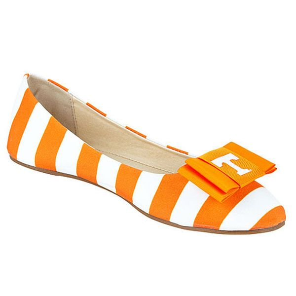 Tennessee Volunteers LillyBee U Womens Removable Bow Flats - $73.99
