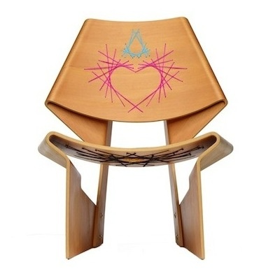 Pink Jalk Project GJ Chair designed by Harry Allen of Harry Allen Design  #PinkProject