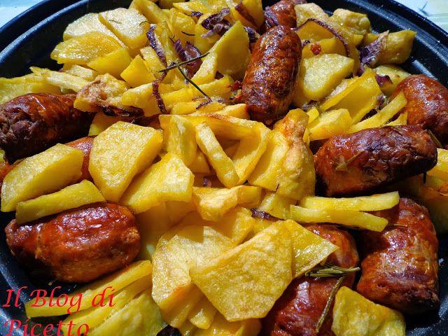 Patate e salsicia al forno anche al microonde