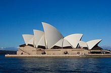 The Sydney Opera House - designed to evoke the sails of yachts in Sydney harbour