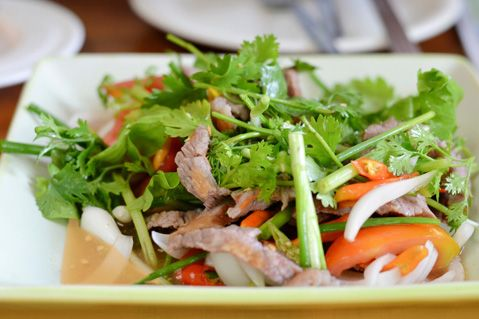 Steak Salad with Coriander We've really spiced things up with this version of an Asian steak salad.