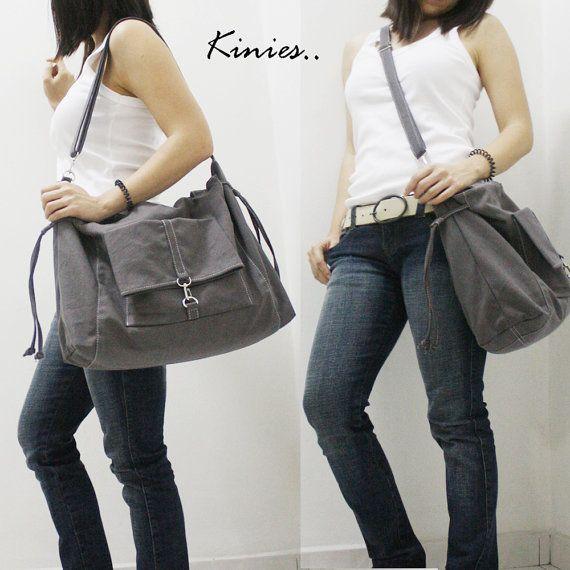 SALE 20% OFF EZ in Dark Gray / Crossbody Bag / diapers by Kinies