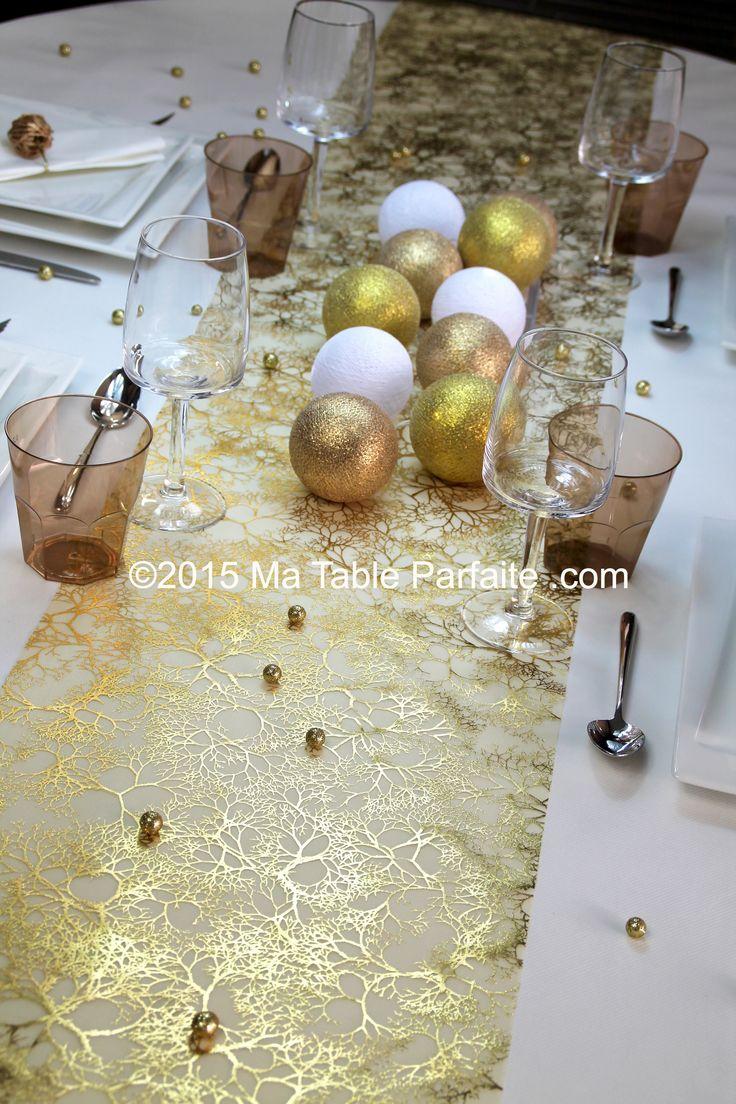Chemin de table nouvelle collection 2016 dor http www for Chemin de table dore