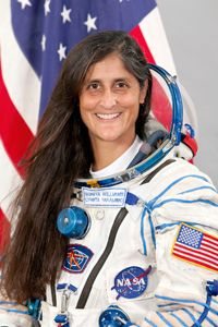 Olympics in space! US astronaut Sunita Williams will join Japanese and Russian astronauts at the space station and hold games of their own.
