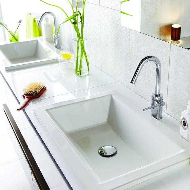 Badezimmer Fliesen Wand Waschbecken-hängend Design Kale