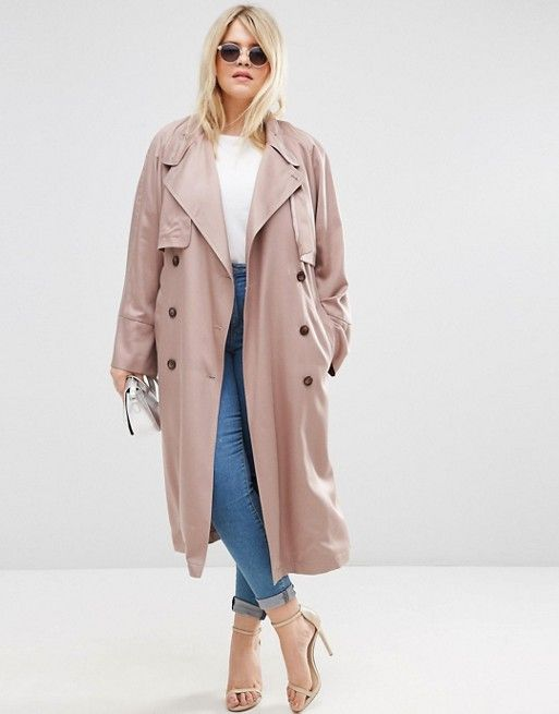 un trench grande taille long