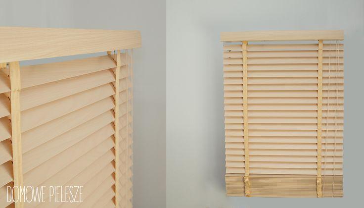 Żaluzja drewniana laminowana  w kolorze żeń-szeń, z taśmami.  Żaluzje Drewniane --->>> http://allegro.pl/zaluzja-drewniana-bambusowa-zaluzje-drewniane-i6537670301.html