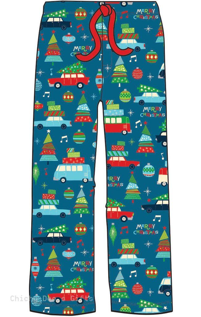 Hatley Men s Flannel Pajama Pants RETRO FESTIVE CHRISTMAS
