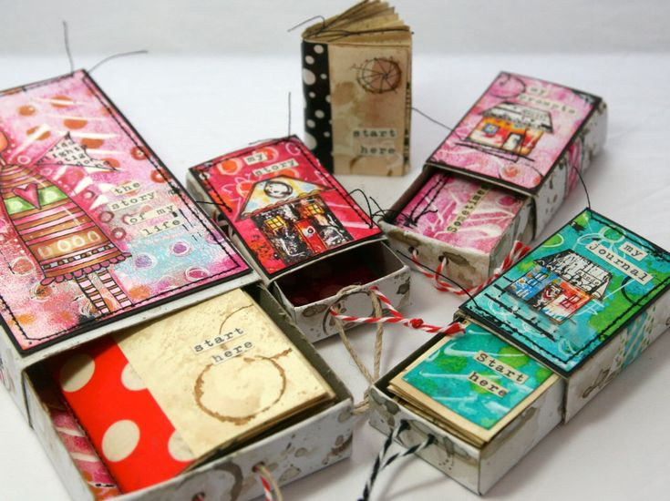 On-line mini class - Marvelous Miniatures (or the art of altered matchboxes) by TheKathrynWheel on Etsy https://www.etsy.com/listing/249091033/on-line-mini-class-marvelous-miniatures