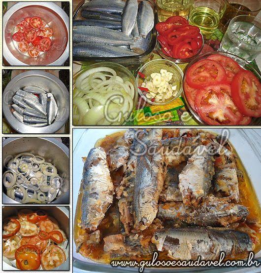 Gosta de sardinha? Nós amamos... Bora fazer para o #almoço Sardinha de Escabeche na Panela de Pressão, é maravilhosa, prática e muito econômica!  #Receita aqui: http://www.gulosoesaudavel.com.br/2011/06/27/sardinhas-de-escabeche-na-panela-de-pressao/
