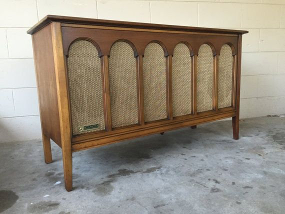 Mid century modern record player console by by ECHOESofRETRO