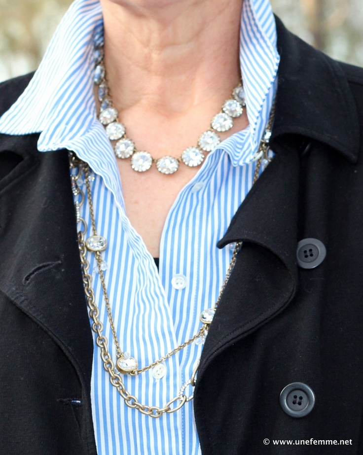Best Look To Try Layered Necklaces Images On Pinterest - Bright diy layered button necklace
