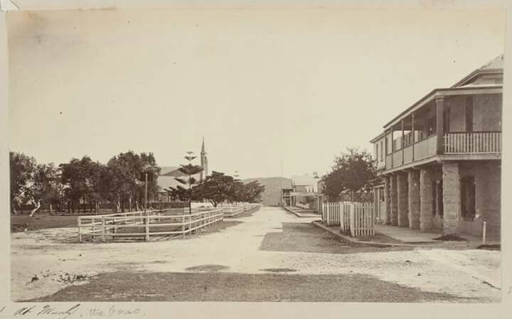The Corso in Manly in the Northern Beaches region of Sydney in between the years of 1868-1880.