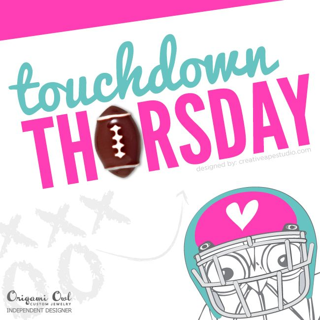 Touchdown Thursday - Origami Owl® Social Media Graphic