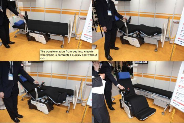 Robotic bed ...Bed wordt rolstoel en vv http://zorgmag.nl/2014/05/19/bed-wordt-rolstoel-en-vv/