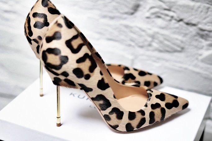 Kurt Geiger leopard Elliot heels