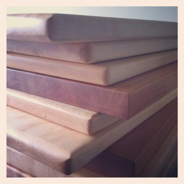 A Fresh Stack of Cutting Boards from @Jana B Swaine Street Woodworking