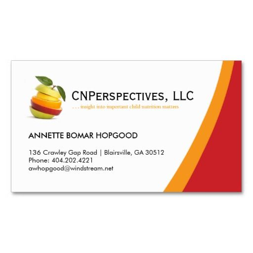 Nutritionist Business Card