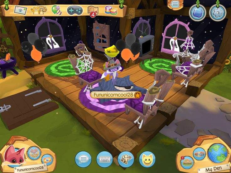 Come stop by my SPOOKY den in Animal Jam- Play Wild!