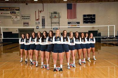 Corban U Volleyball team