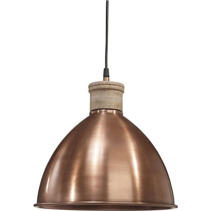 HÄNGELAMPE ROSEVILLE AUS KUPFER  ROSEVILLE ist eine Kollektion von Lampen, die den Schwere des Metalls mit der Natürlichkeit des Holzes verbinden. Die Spitze der Lampe wurde aus Holz hergestellt und der Schirm wurde in schwarz gemalt.  Diese Lampe wertet jeden Raum auf.  Merkmale:  Durchmesser: 32 cm Kabel: 1,2 m Höhe: 31 cm Technische Daten: E27 max 40W   #beleuchtung #leuchte #licht #haus #hausdeko #design #deckenleuchte #deckenlampe #hängeleuchte #modern #lampeauskupfer