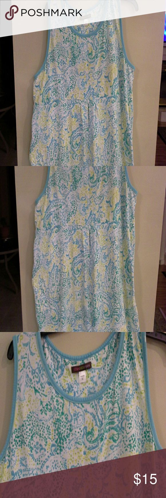 Lounge dress A few pleats in front.  Pullover.  In excellent condition Stan Herman Intimates & Sleepwear