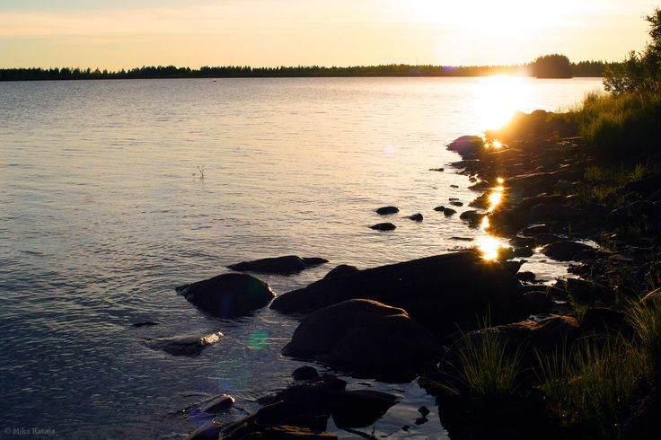 Sunset at Lake Patana, Finland