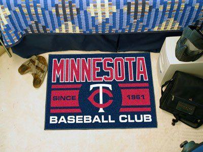 "Minnesota Twins Baseball Club Starter Rug 19""x30"""