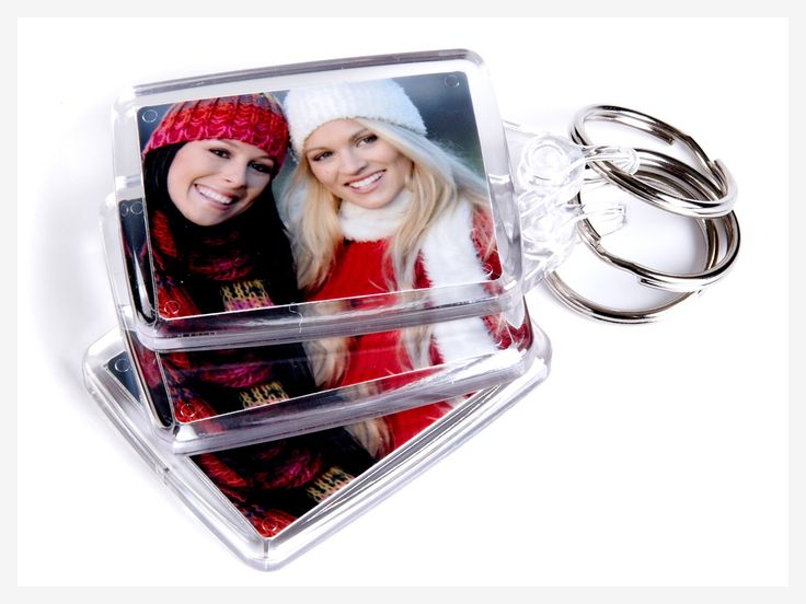 Personalised Photo Keyrings - How about this great little set of keyrings for a convenient way to keep a picture of your nearest  dearest with you at all times.  - Available as a pack of 3  - Contains two 4.5cm x 3.5cm photos  - Same photo displayed both sides  - Made from hard-wearing acrylic  - 2 working days production time  - From £5.15