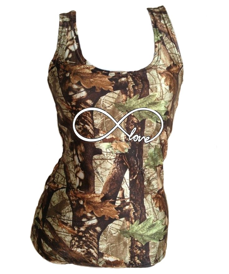 Southern Sisters Designs - Camo Infinity Tank Top - Semi Fitted - White Logo, $18.95 (http://www.southernsistersdesigns.com/camo-infinity-tank-top-semi-fitted-white-logo/)