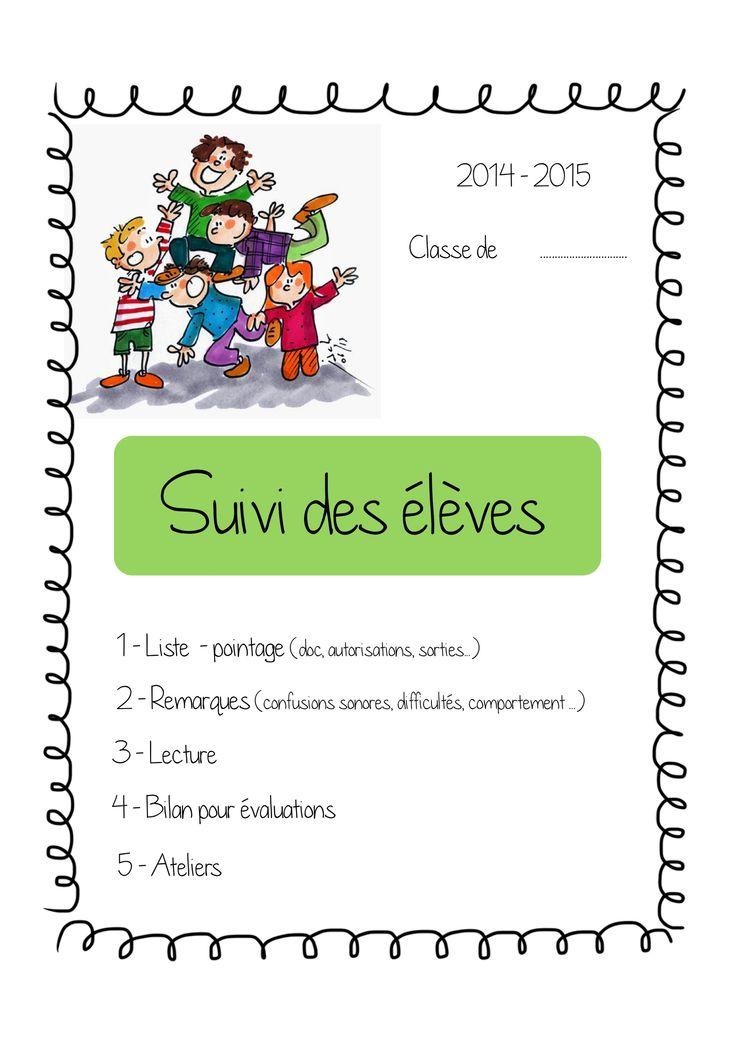 Cahier de suivi des élèves  2014-2015