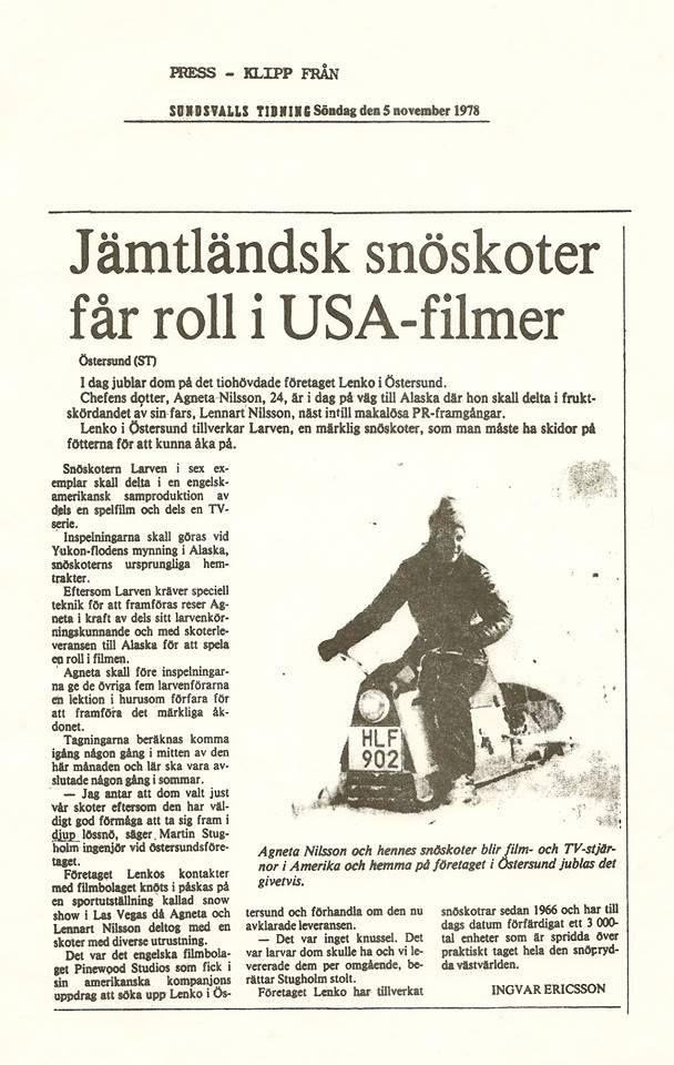 Lenko Larven Lenko Larven Snomobile Usa Alaska Movie Film