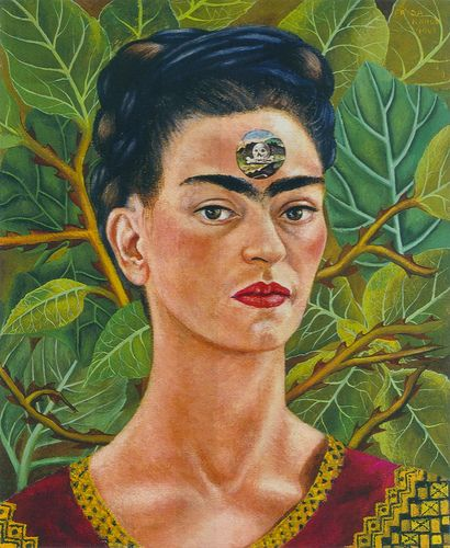 Thinking About Death~Self portrait by Frida Kahlo, 1943