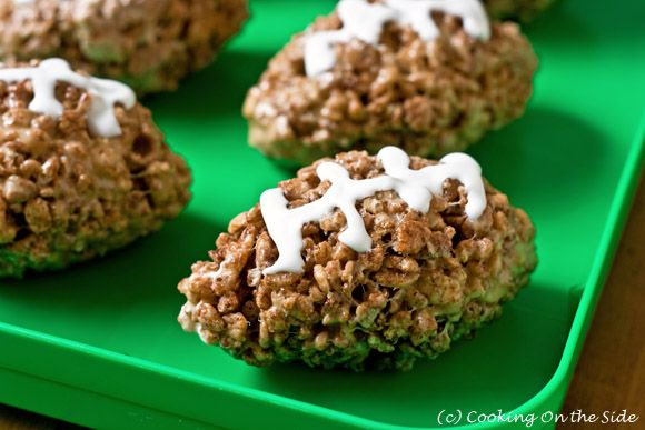 Post image for Cocoa Rice Krispies Football Treats