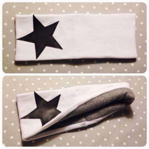 Fick en beställning på ett fleecefodrat pannband med en stjärna på och har sedan dess får fler beställning på pannband. Himla roliga att sy ...