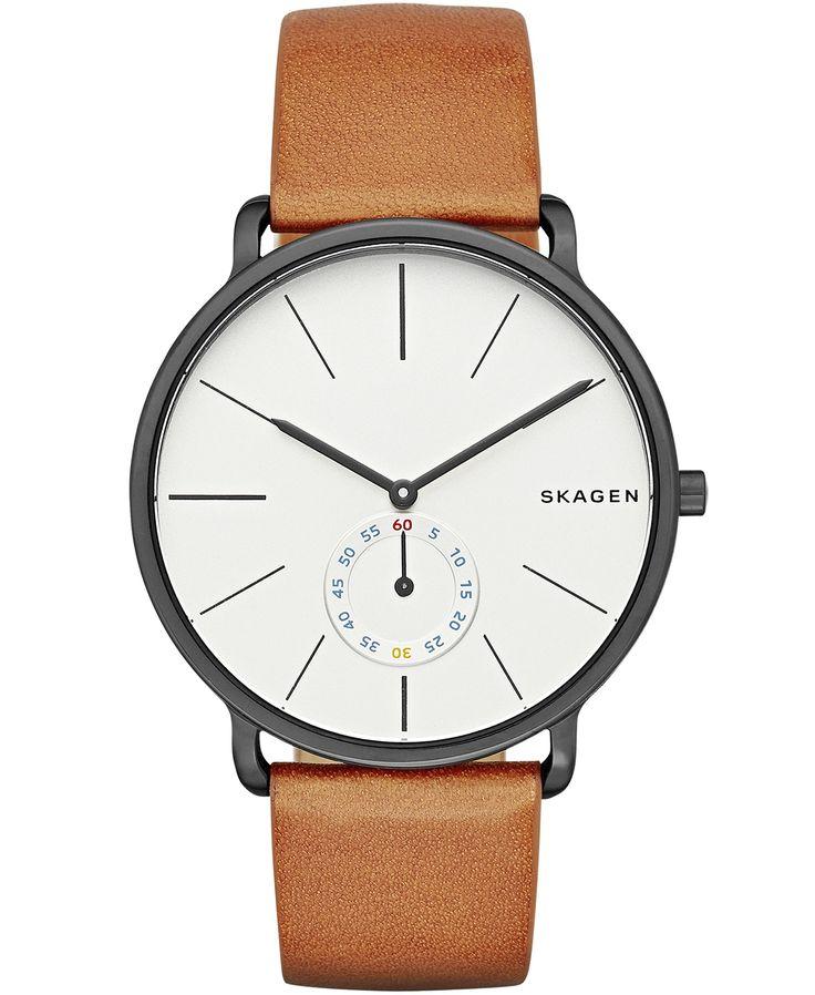 Skagen Hagen Multifunction Leather Watch