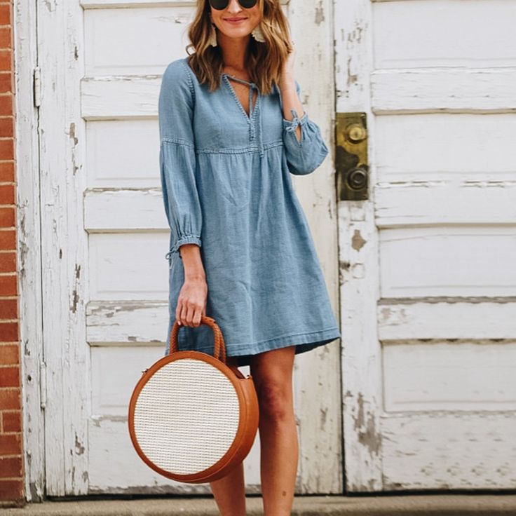 Fashion Plain Long Sleeve Casual Dress