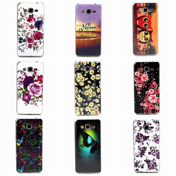 1 STÜCKE Für Samsung Galaxy Groß Prime G530 G530H Fall Blume Eule Schmetterling Herz Weich TUP Handy Fällen Schutzmaßnahmen Zurück Abdeckung