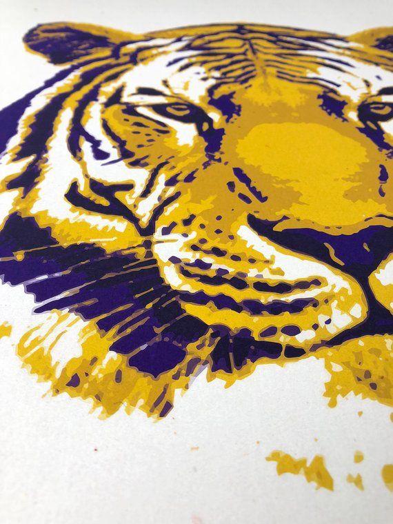 LSU Gift, Graduation Gift for Men, LSU Wall Art, LSU Prints, Tiger